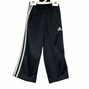 Adidas toddler track pants 3T black and white